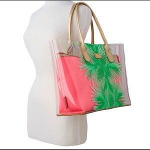 NWT Lilly Pulitzer Clear Palm Place Breezy Tote